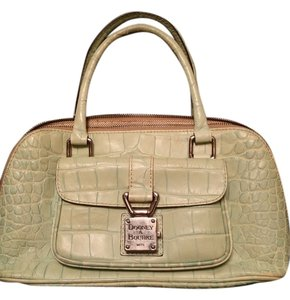 Dooney & Bourke Croc Limited Edition Satchel in Baby blue