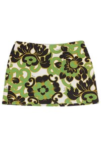 MILLY Multicolor Printed Mini Skirt Green