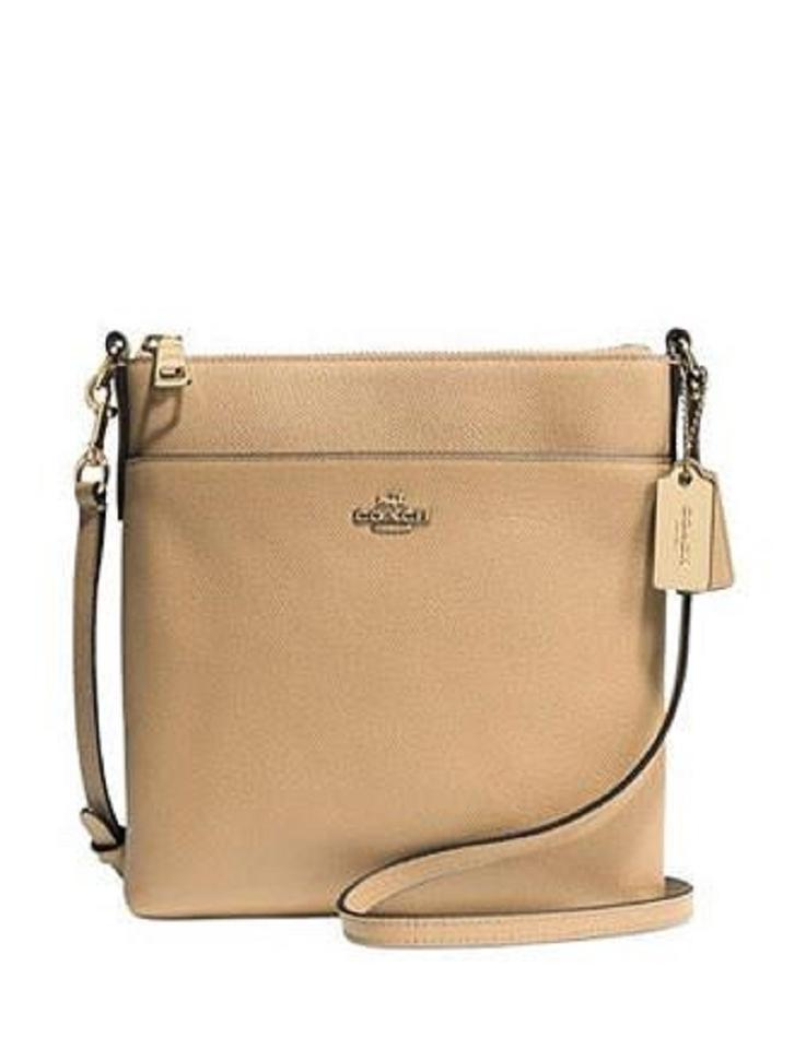 ab1bdc3feb Coach Swingpack North South Crossbody In Embossed Textured Nude Leather  Messenger Bag