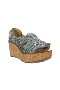 Tory Burch Woven silver Wedges