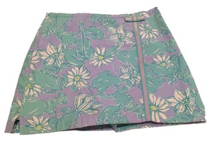 Lilly Pulitzer Mini Skirt Periwinkle, green, white