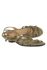 Escada Suede Green Sandals