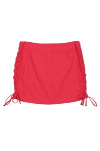 See by Chloé Coral Lace Up Mini Skirt Pink