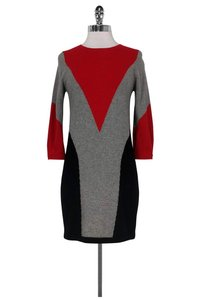 Autumn Cashmere short dress Black Red Grey on Tradesy