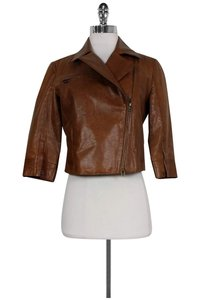 Robert Rodriguez Leather Brown Jacket