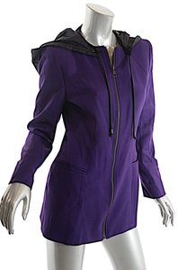 Claude Montana Vintage Wool Blend Removable Hood Purple Jacket