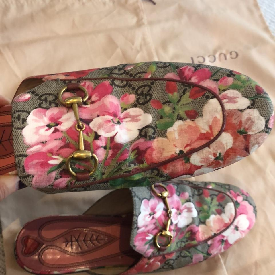 aae1e5b1d Gucci Pink Blooms Print Princetown Gg Slipper Mules/Slides Size US ...