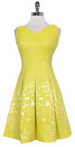 Karen Millen short dress yellow Cream Embroidered on Tradesy