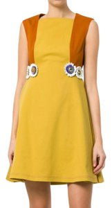 Talbot Runhof short dress Senape Yellow on Tradesy