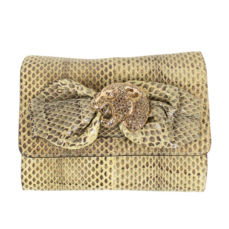 60f068245908 Valentino Diamond Studded Jaguar Ivory Python Skin Cross Body Bag ...
