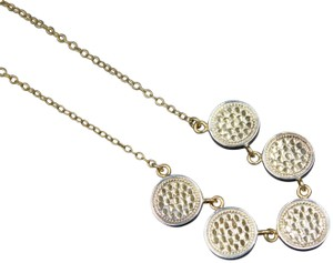 Anna Beck Anna Beck 18k Gold Plated Sterling Silver 5 Station Disc Necklace
