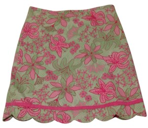 Lilly Pulitzer Skirt Summer green and pink