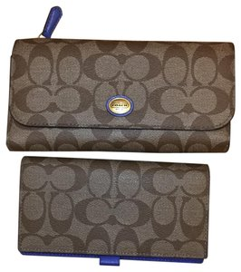 Coach coach wallet with check book holder