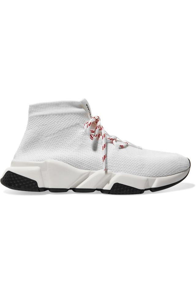 new products 8e983 3407e Balenciaga White Speed Stretch-knit High-top It41 Sneakers Size EU 41  (Approx. US 11) Regular (M, B)