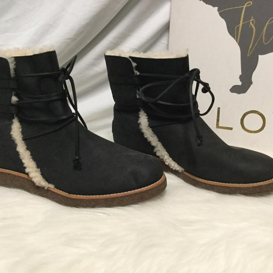 7739f380cea UGG Australia Black Women's Shearling Lined with Lace Up Front  Boots/Booties Size US 9 Regular (M, B) 64% off retail