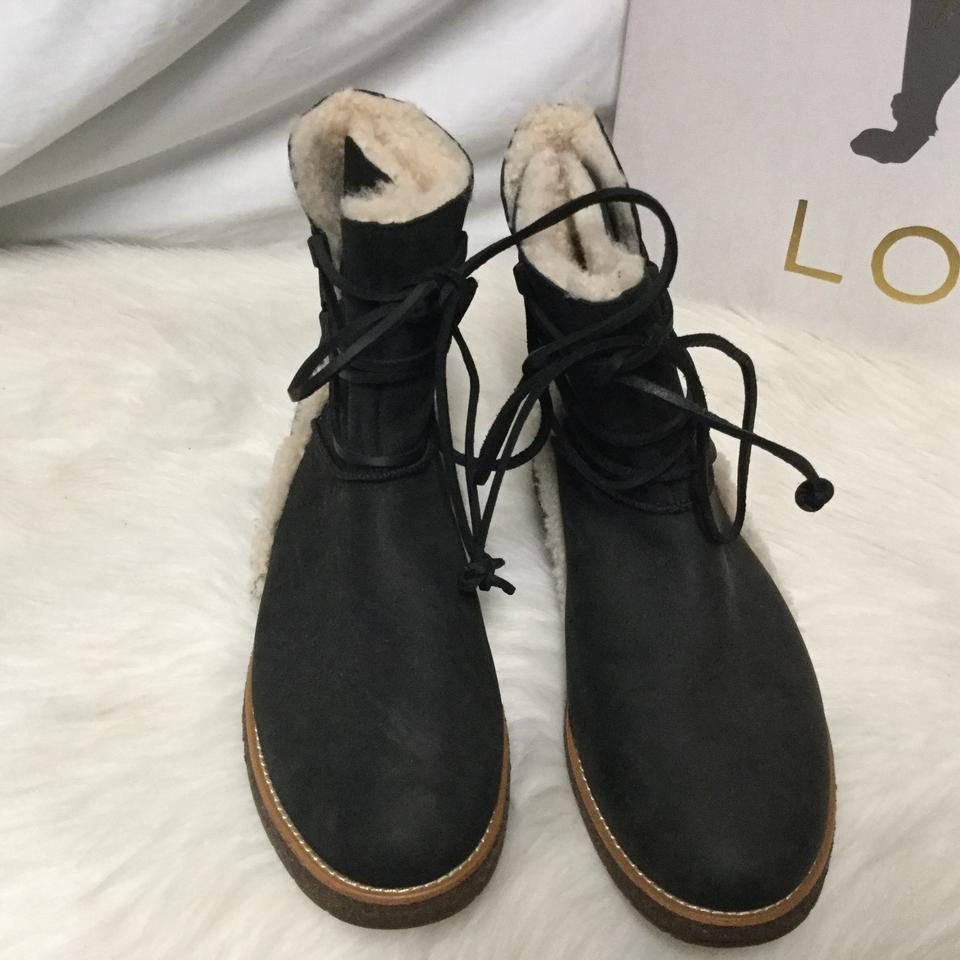 d547452e466 UGG Australia Black Women's Shearling Lined with Lace Up Front  Boots/Booties Size US 9 Regular (M, B) 64% off retail