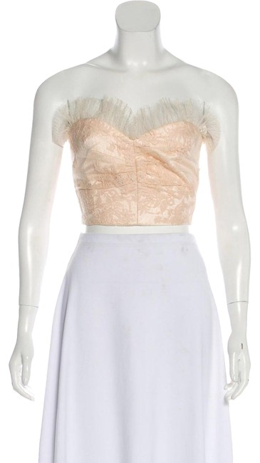Item - Fall 2017 Strapless Sparkling Lace Bustier Pale Pink Top
