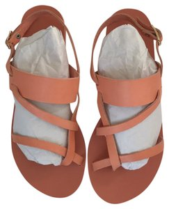 Ancient Greek Sandals Leather Buckle Gladiator Coral Sandals