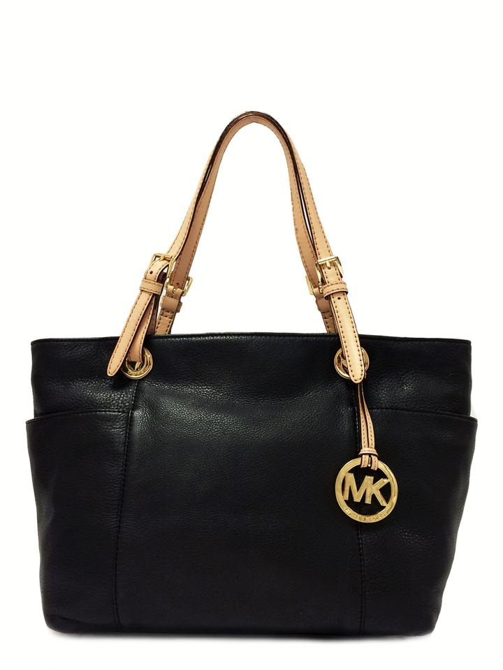 207b3c8962e057 MICHAEL Michael Kors Bag Jet Set Top Zip Black Leather Tote - Tradesy