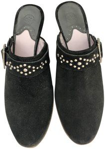 Johnston & Murphy Suede Winter Comfortable Studded Black Mules