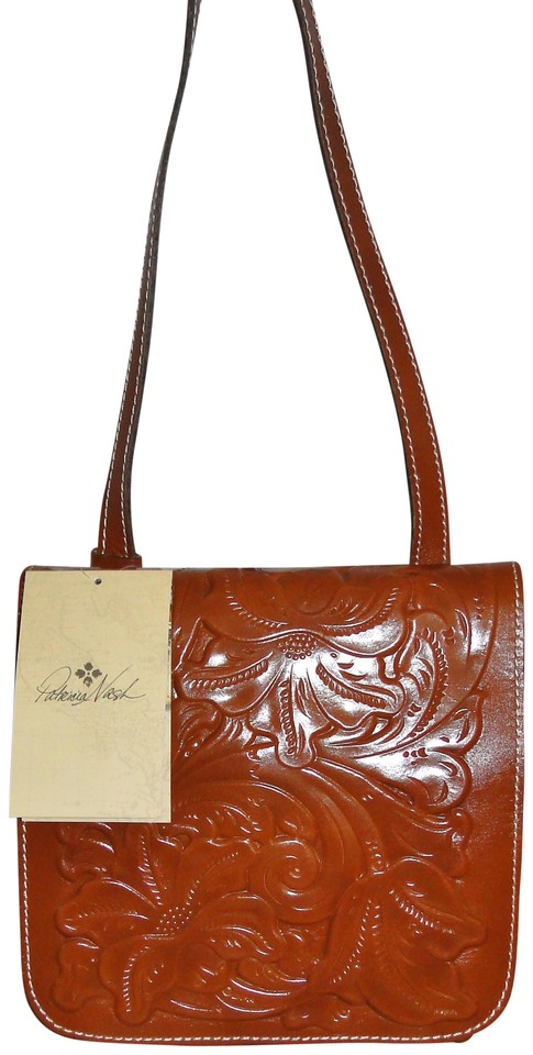 a4c8e2b7ee12f Patricia Nash Designs Tooled Granada Florence Leather Cross Body Bag ...