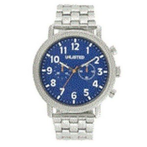 Unlisted by Kenneth Cole 10026683 Men's Silver Steel Bracelet With Blue Analog Dial Watch NWT
