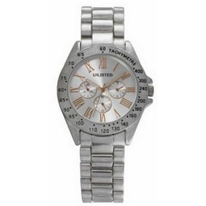 Unlisted by Kenneth Cole 10029410 Women's Silver Steel Bracelet With Silver Analog Dial Watch