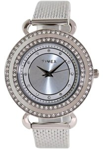 Timex T2P231 Classics Womens Silver Steel Band With Silver Analog Dial Watch