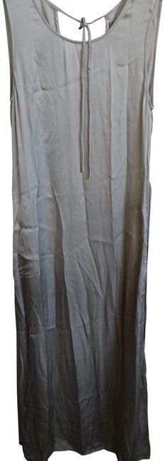 Item - Silver With Pockets Long Casual Maxi Dress Size 8 (M)