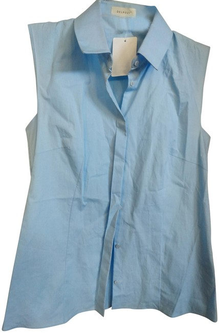 Item - Baby Blue 34 In Spain Sleeveless Cotton Blouse Size 4 (S)