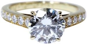 Cartier 1895 SOLITAIRE RING 18K YELLOW GOLD, 2.02 CT DIAMONDS, VS1, D