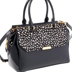 Ralph Lauren Collection Satchel in Black and White
