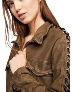 Free People Laces Up The Sleeves Inspired Military Jacket