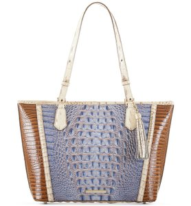 Brahmin Leather Asher Color-blocking Tote in Multicolor