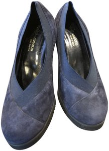 Andre Assous Suede Navy Wedges