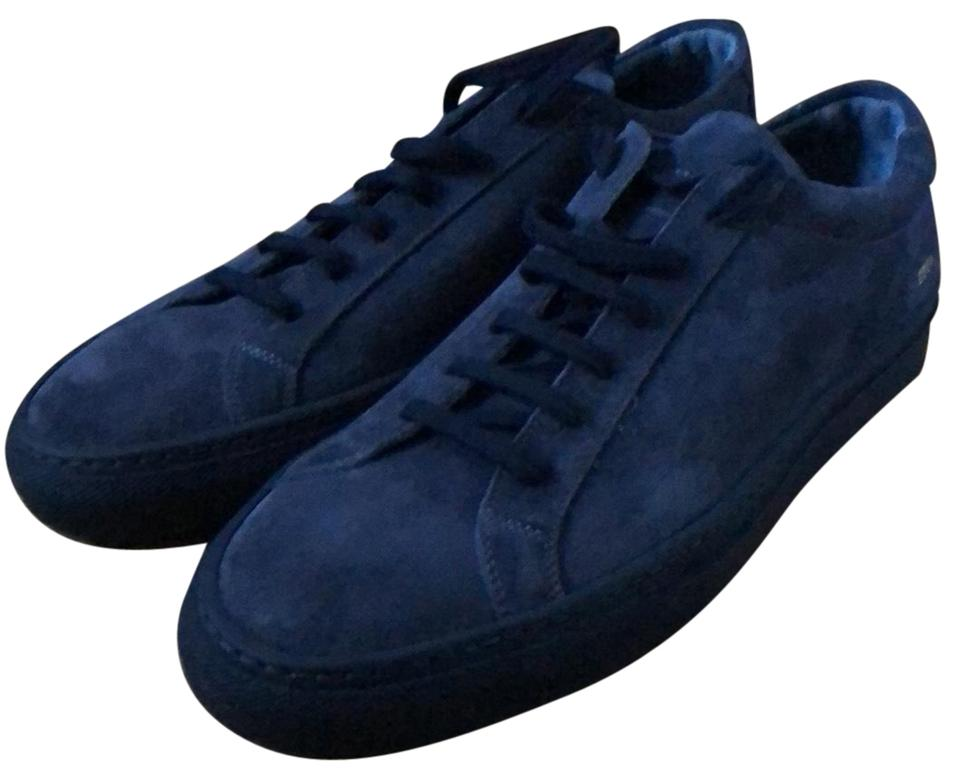 edf4df9ce5bd7 Common Projects Navy Blue Suede Achilles Sneakers Size EU 43 (Approx ...