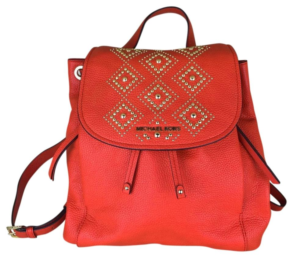1e1c143b9a15d MICHAEL Michael Kors Riley Dk Sangria Leather Backpack - Tradesy