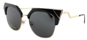 Fendi Authentic Fendi Iridia FF 0149 REW Black Gold Metal Cat-Eye Sunglasses