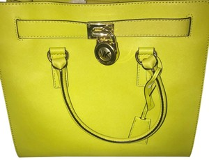 Michael Kors Tote in Green with Gold trim