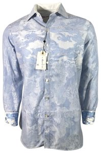 Robert Graham Gucci Shirt Shirt Limited Edition Men's Shirt Shirt Button Down Shirt Blue
