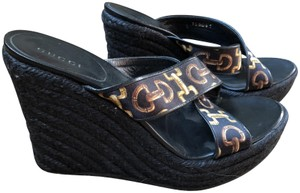 Gucci Black New Espadrille Brand New--Black Wedges