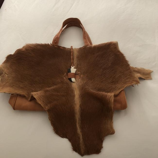 Item - And Tan Cowhide Leather Tote