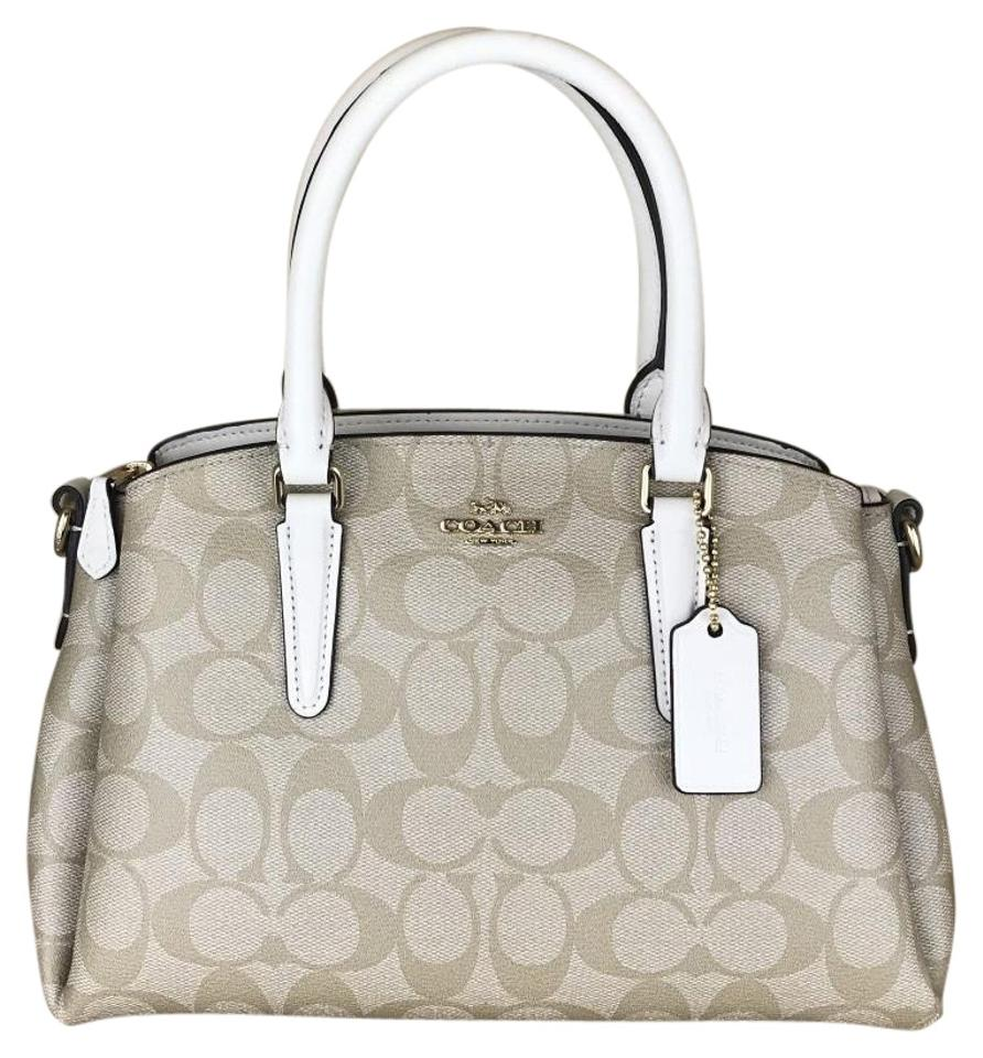 81a3dcf9b6238 Coach Mini Sage Carryall In Signature Canvas Light Khaki Chalk ...