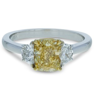 Gavriel's Jewelry Fancy Yellow Diamond Engagement Ring 1.95 cttw