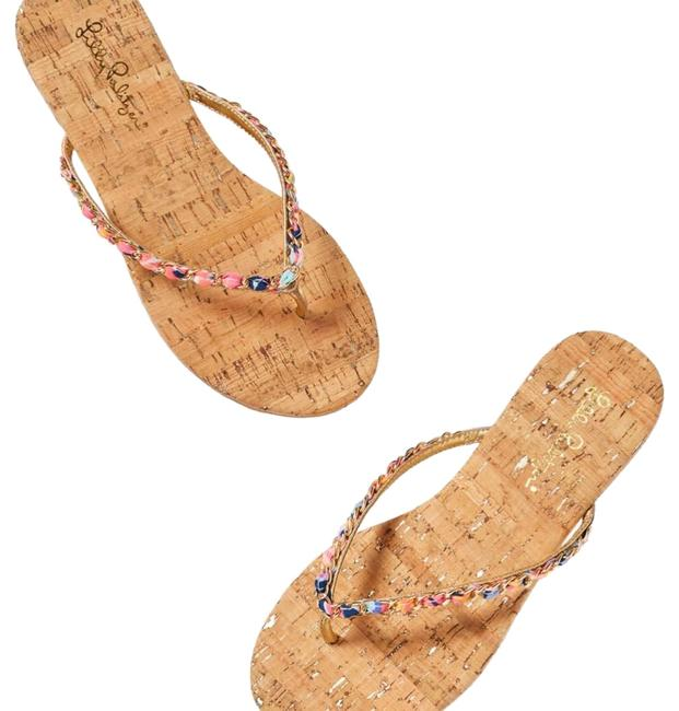 Item - Natural and Multi Naples Sandals Size US 7 Regular (M, B)