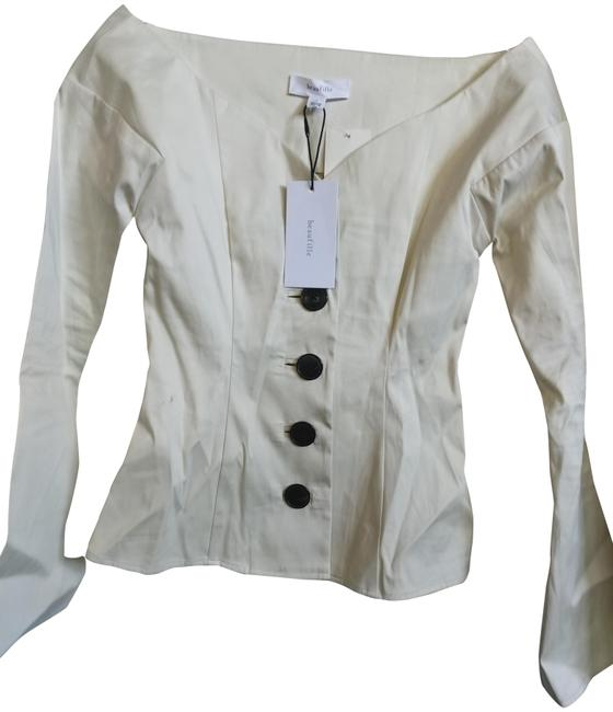 Item - Bone Made In Canada Fluted Sleeve Fitted Jacket Size 0 (XS)