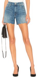 Mother Summer High Rise Mid Rise Cut Off Shorts Mums the Word (Blue)
