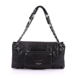 Chanel Beaute Leather Tote in Black