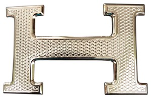 Hermès Hermes H Guillochee Belt Buckle. Size 32, Buckle Only NEW!