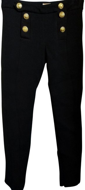 Item - Black Gold Tone Buttons Stretch With Pants Size 4 (S, 27)